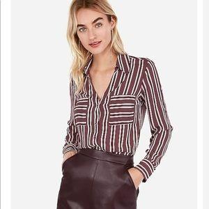NWOT Express Portofino Slim Stripe Shirt